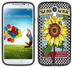Sunflower Handmade Samsung Galaxy S4 Black Bumper Hard Plastic CaseKimberly Kurzendoerfer