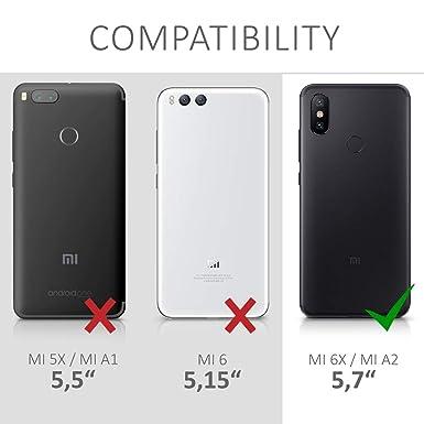 Amazon.com: Xiaomi Mi A2 - Funda de piel sintética con tapa ...