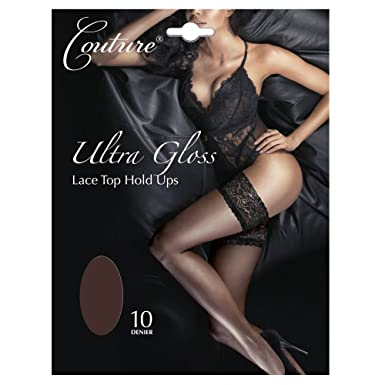 451a6f65e Couture Ultra Gloss lace top hold-ups  Amazon.co.uk  Clothing