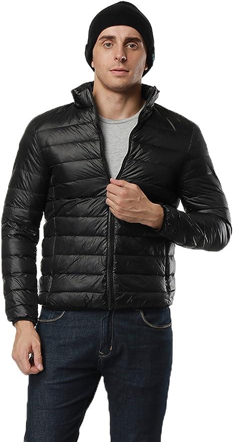 Giubbino nero uomo giacca leggera lucida a zip