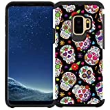 Galaxy S9 Case, Dual Layer Shock Proof Bumper Protective Phone Cover - Sugar Skull