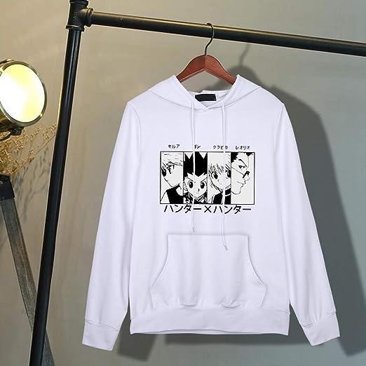 Yesgirl Hunter X Hunter Felpa con Cappuccio Donna Uomo Killua Hisoka Baka Pullover Unisex Stripes Baseball Anime 3D Stampa Felpa A Maniche Lunghe Camicia Casual Top
