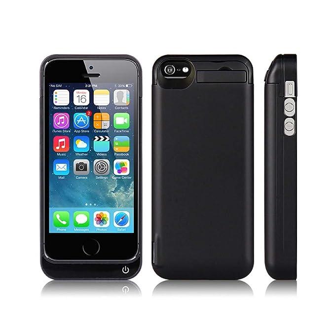 Carcasa con cargador externo de baterías de SYR, cargador de 2200 mAh, para iPhone 5, 5S, 5C y SE