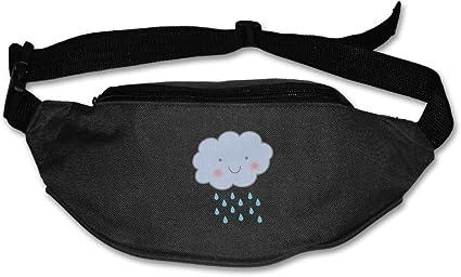 Waist Purse Rain Cloud Unisex Outdoor Sports Pouch Fitness Runners Waist Bags
