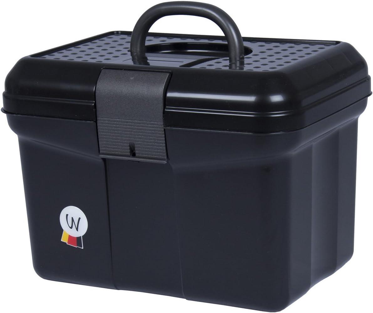 Amesbichler Putz Box Caja para pulir Limpieza maletín con Mango, se Puede Cerrar, Divisor Ajustable Grooming Caja Negro