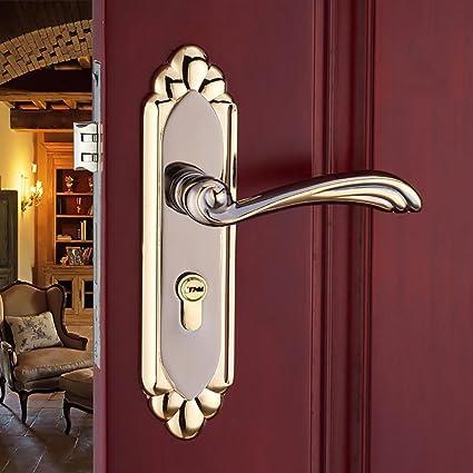 Amazon TDJDYQ Retro Europeanstyle Door Locks Bedroom Bathroom New How Do You Unlock A Bedroom Door Style