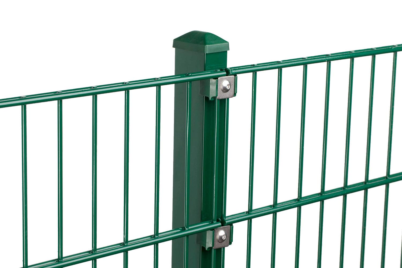 grün  Doppelstabgittermatten Gartenzaun, Gittermattenverbinder U-Form Farbe