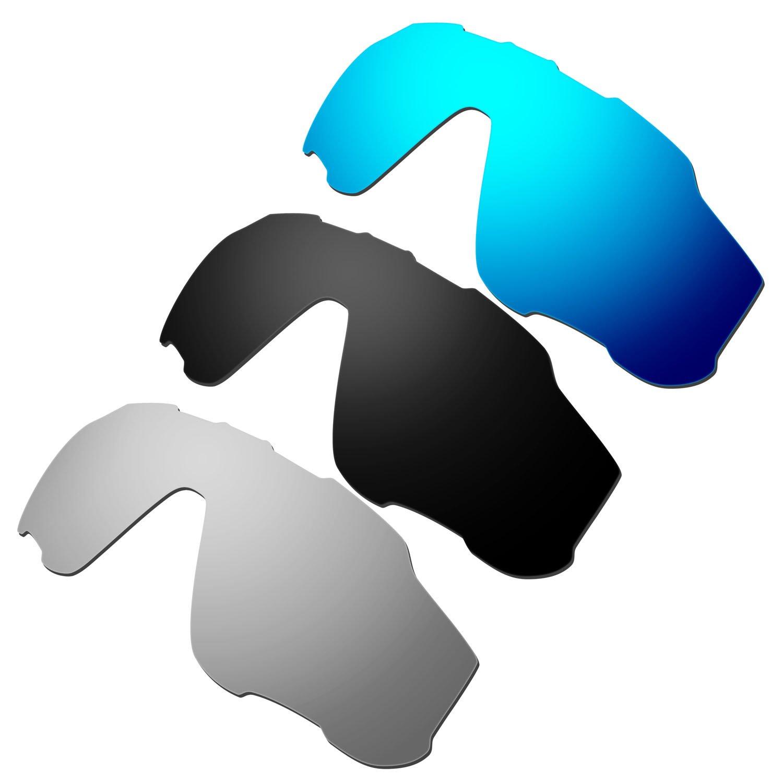 ea4e4ddb78 Hkuco Mens Replacement Lenses For Oakley Jawbreaker Blue  24K Gold  Emerald  Green Sunglasses