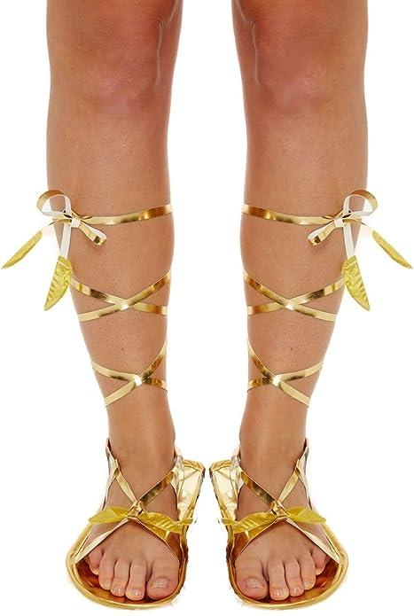 Romana Costume Vestito Donna da Color Greco Oro Cravatta Gladiatore DHIEe9bW2Y