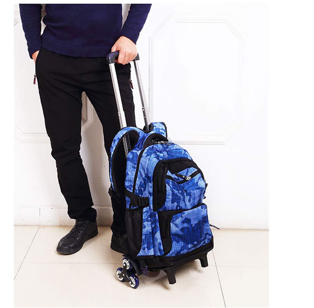 20f97e23a3 ... Ruote Zaino Trolley Sacchetto di Scuola - - - Borsa Camouflage  rossoolamento Bambini(Cielo Blu ...