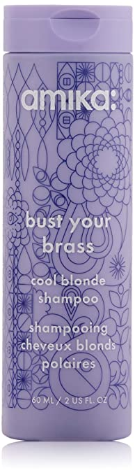 Amika Bust Your Brass Cool Blonde Shampoo, 2.03 Fl Oz best purple shampoo