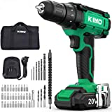 Cordless Drill Driver Kit - 20V Max Impact Drill Set w/Lithium-Ion Battery & Charger, 350 In-lb Torque, 3/8'' Keyless…
