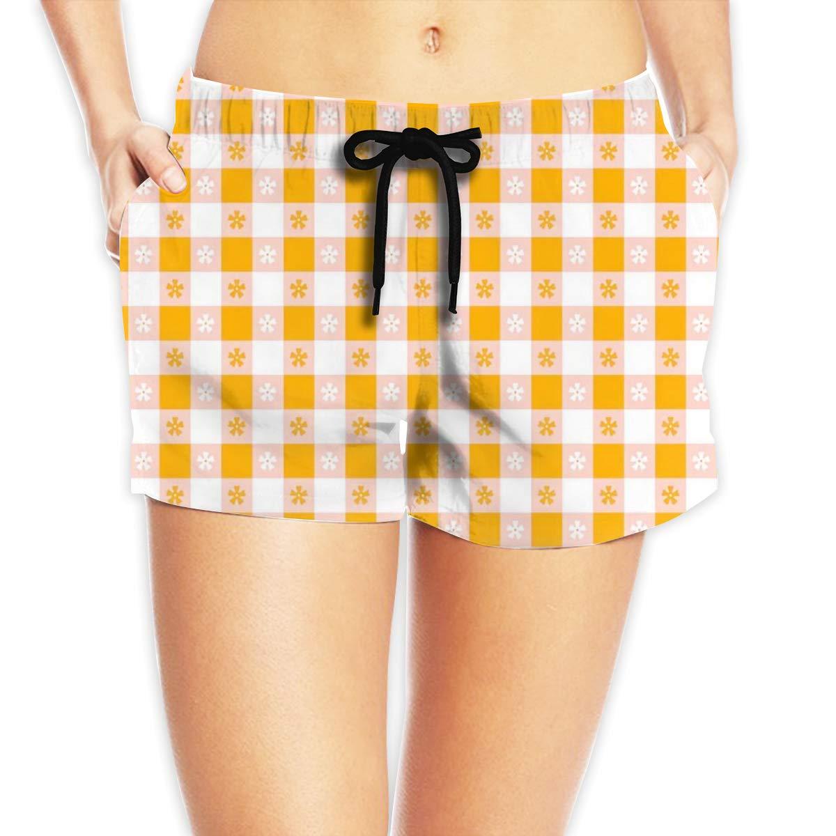 Women Comfortable Hawaii Waves Travel Vintage Beach Shorts Swim Trunks Board Shorts