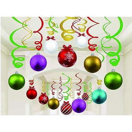 Light Bulb Christmas Ornaments.30ct Christmas Light Bulb Hanging Swirl Decorations Christmas Light Bulb Party Supplies Fan Decors