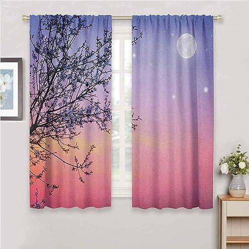 Jinguizi Night Curtain Panels Dreamlike Ethereal Sky