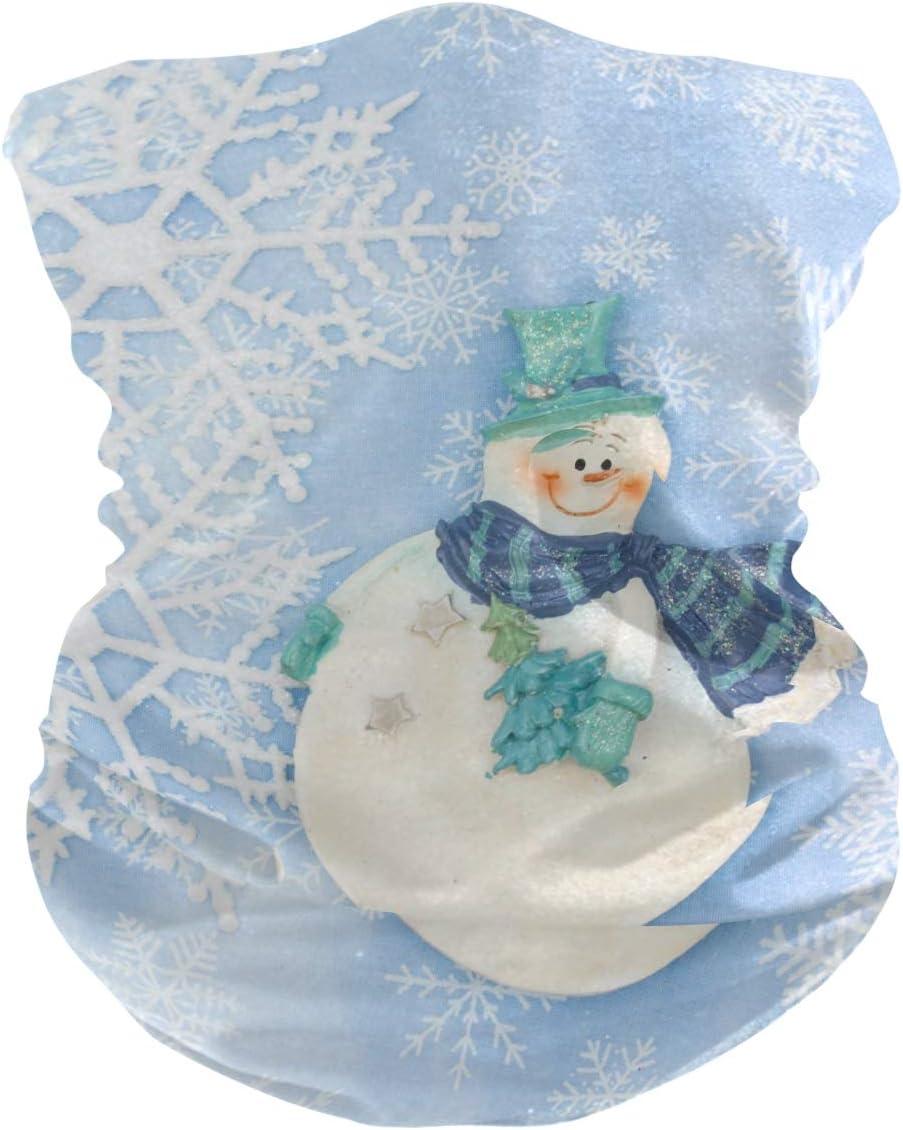 QMIN - Diadema de invierno con copos de nieve, bandana, máscara de protección solar, polaina, bufanda, pasamontañas, para mujeres, hombres, niños y niñas