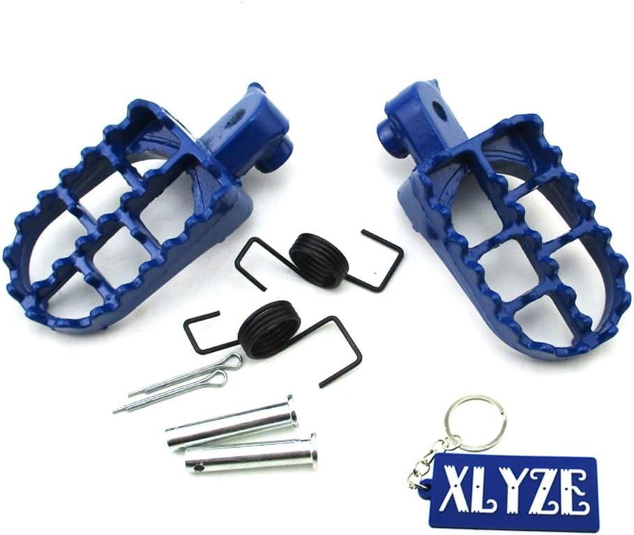 XLYZE Aluminum Footpegs Footrest Foot Pegs Rest for Chinese 110cc 125cc 140cc 150cc Pit Dirt Bike Yamaha PW50 PW80 TTR90 Honda CRF CRF80 CRF100F