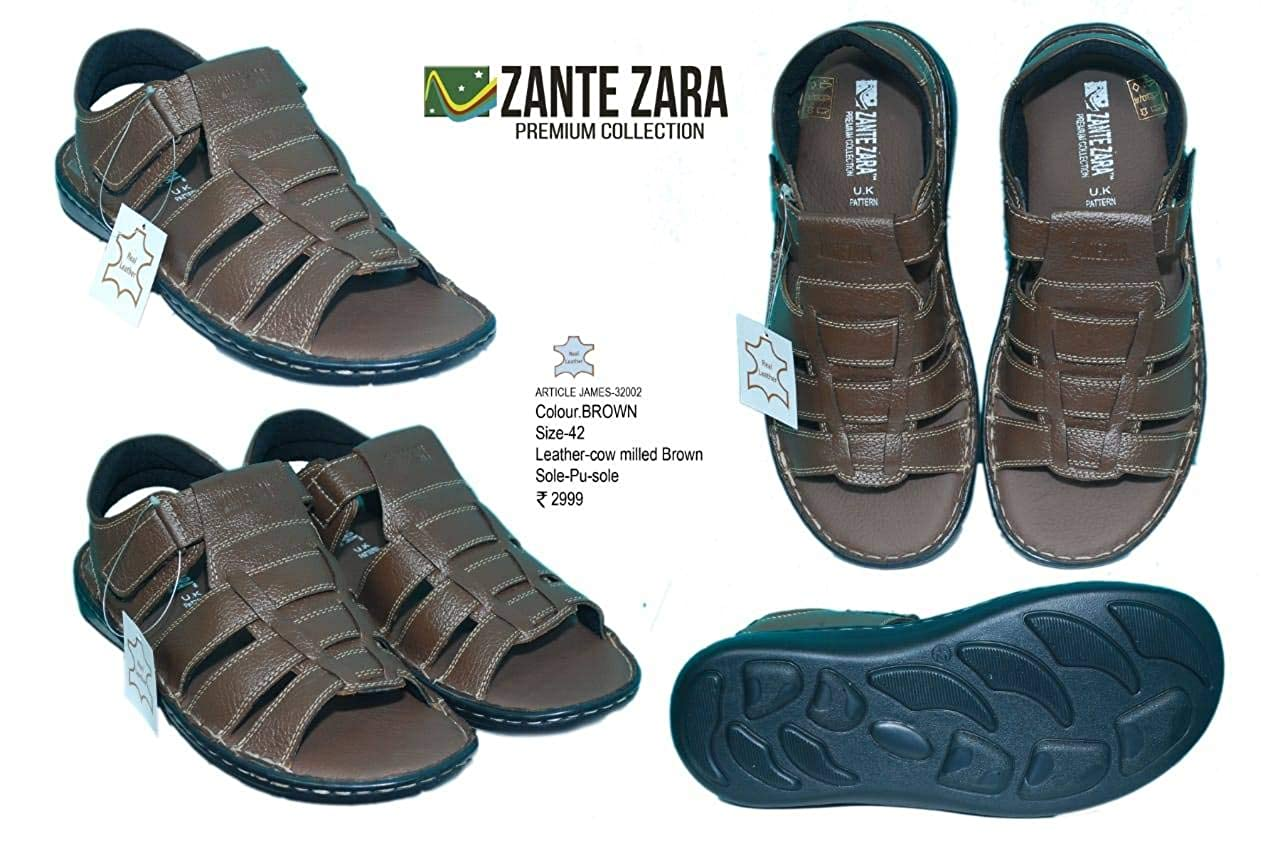 22548402cdb9 ZANTE ZARA Brown Men Sandals - Brown-James 32002  Buy Online at Low Prices  in India - Amazon.in