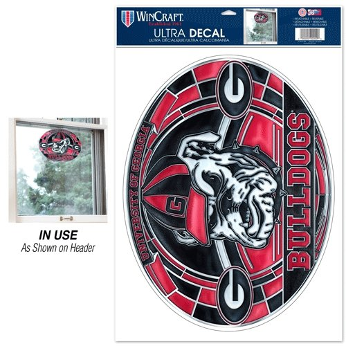 Wincraft NCAA University of Georgia Multi-Use Decal Stained Glass