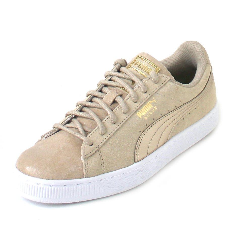 Puma Suede Classic Damen Sneaker Graubraun  38 EU|TAUPE|METALLIC