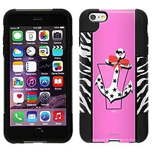 Trek Hybrid Stand Case for Apple iPhone 6 - Anchor on Pink Zebra