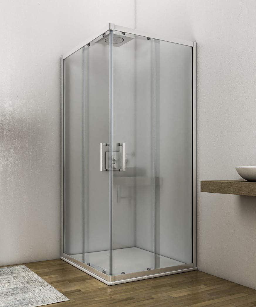 Olimpo - Mampara de ducha para primer precio, H195, 6 mm, 70, 75 ...