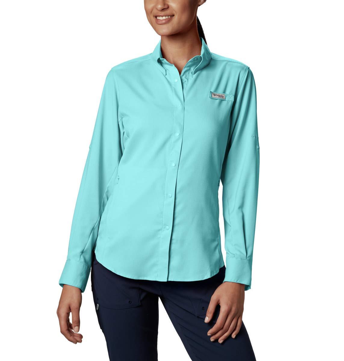 Columbia Women's PFG Tamiami II Long Sleeve Shirt , Clear Blue, X-Small by Columbia