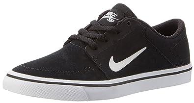 Nike SB Portmore Youth Skate Skate Shoes Black White - 7