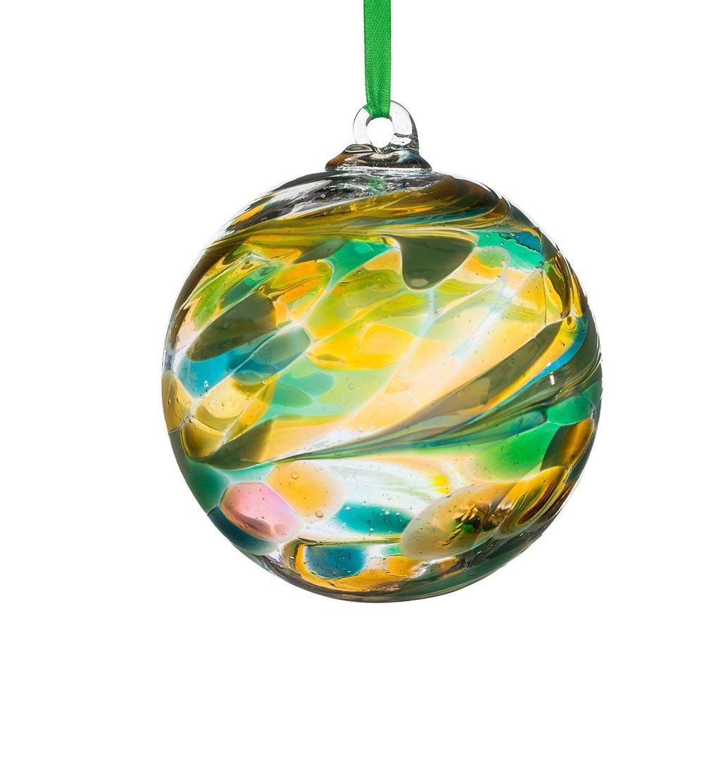 Friendship ball ornament - Sienna Glass August Birthstone Friendship Ball Peridot