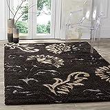 Safavieh Florida Shag Collection SG463-2879 Dark Brown and Smoke Area Rug (3'3″ x 5'3″) For Sale