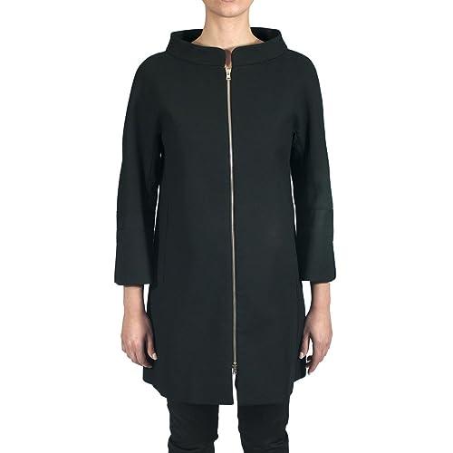 HERNO – Cappotto donna nero in cotone CA0149D
