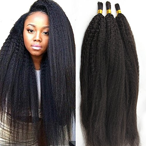 Atina Hair Kinky Straight Bulk Human Hair For Braiding