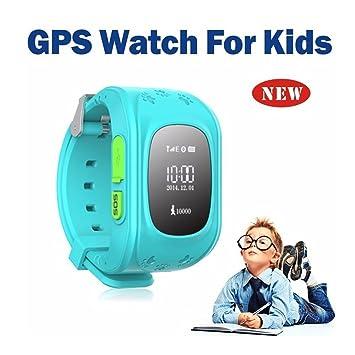 Hangang Reloj para Niños Smartwatch Niño para llamadas SOS localizador de dispositivo para niños seguro, antipérdida, reloj inteligente podómetro, ...