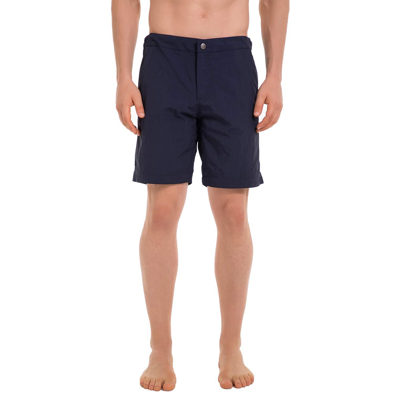 YalayMceeg Mens Swim Trunks Quick Dry Beach Shorts with Premium Zipper Pockets Full Mesh Liner Design Casual Shorts