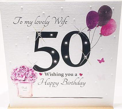 Tarjeta de felicitación de 50 cumpleaños para mi preciosa ...