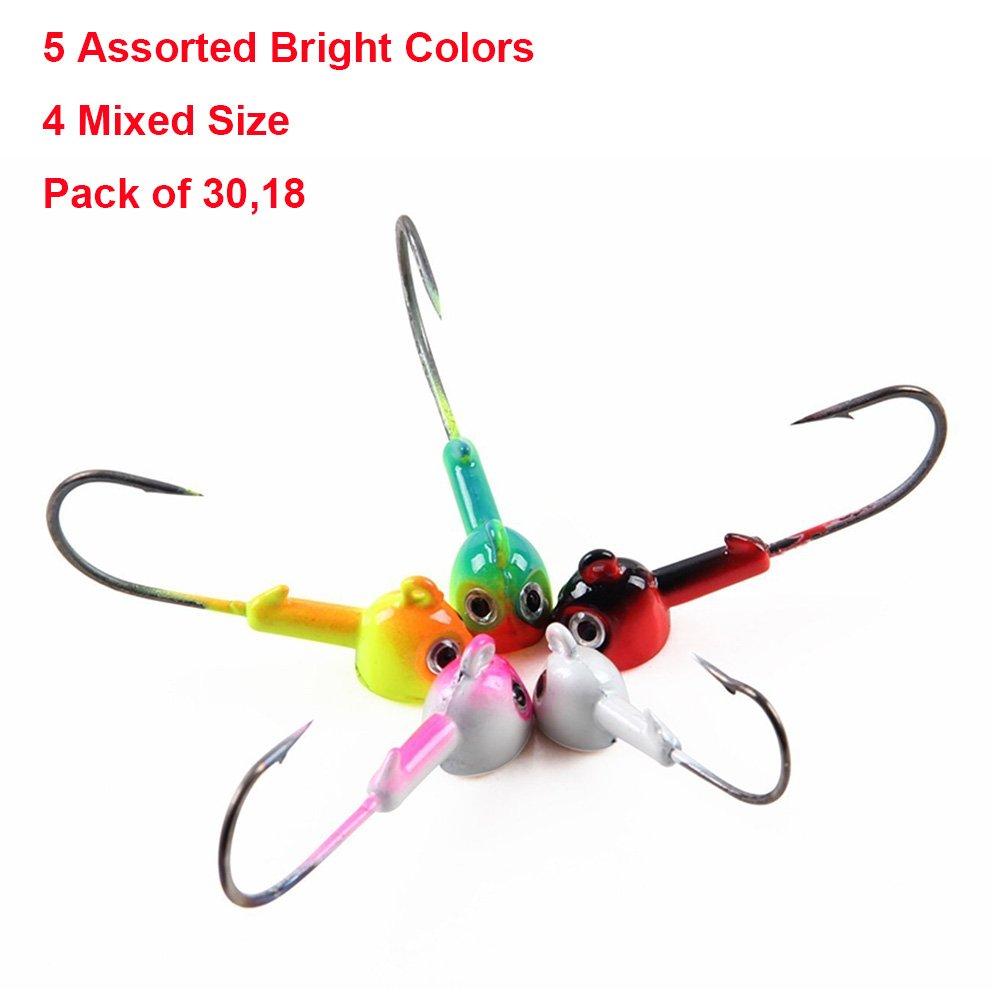 新しいブランド ジグ釣りフックセット – 5 パックof Assorted明るい色ジグヘッドフックキット – サイズ0.12oz –/ 0.12oz-mixed 3.5g 0.25oz/ 7g 0.35oz/ 10g 0.49oz/ 14g – パックof 30,18 B07B2VM9MB 0.12oz-mixed 5colors-30pcs/set, ドリームコンタクト:3cf23b80 --- a0267596.xsph.ru