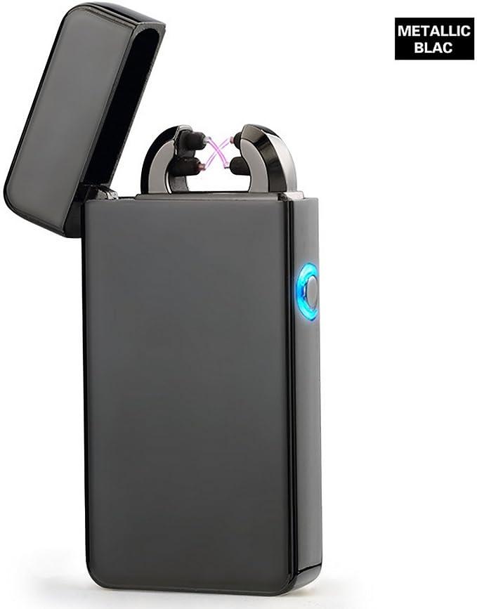 Aokvic USB electrónico encendedor recargable arco electrónico Mechero Sin Llama Resistente Al Viento mechero: Amazon.es: Hogar