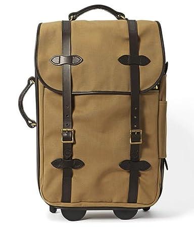 e6b34f6c229 Amazon.com | Filson Medium Rugged Twill Rolling Carry-On Bag, Tan | Carry -Ons
