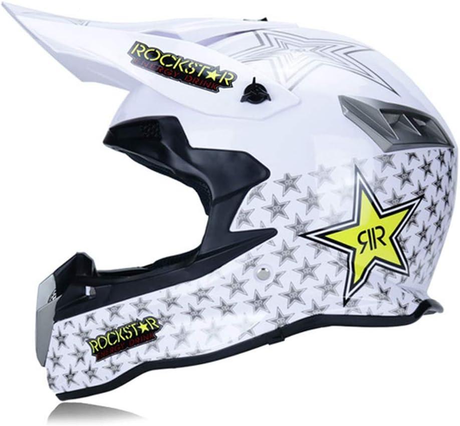 MRDEAR Casco Motocross Hombre Casco Descenso Rockstar Adulto Casco ...