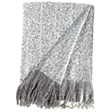 Rivet Super Soft Oversized Ombre Stripe Brushed Weave Throw Blanket,...