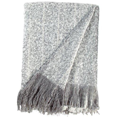 Rivet Oversized Ombre Stripe Brushed Weave Throw Blanket, 60