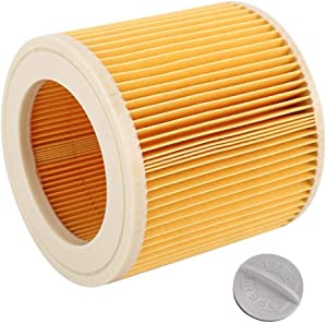 Maxmartt Cartridge Filter Vacuum Cleaner Part for Karcher A2004 A2054 A2204 A2656 WD2.250 WD3.200 WD3.30
