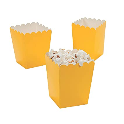 Mini Popcorn Boxes Yellow Teacher Resources Birthday Supplies By Oriental Trading Company