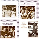 FAKKOS Design Women Cocktail Napkins Funny Shannon Martin Variety Pack 80 total paper napkins assorted
