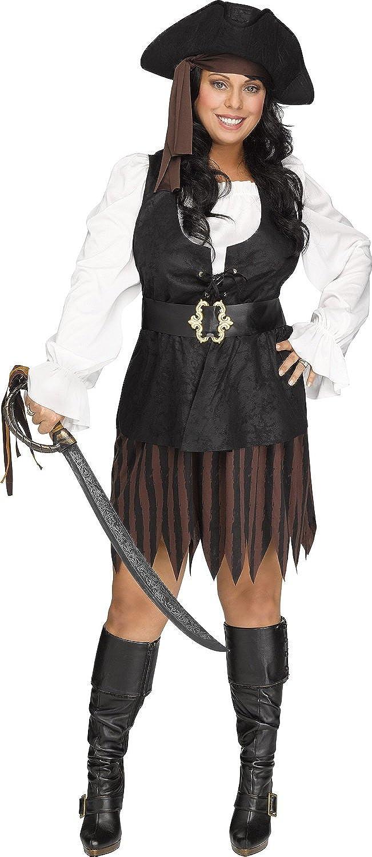 31c4e6b1f164c0 Amazon.com: Fun World Women's Rustic Pirate Maiden Plsz Cstm, Multi Color Plus  Size: Clothing