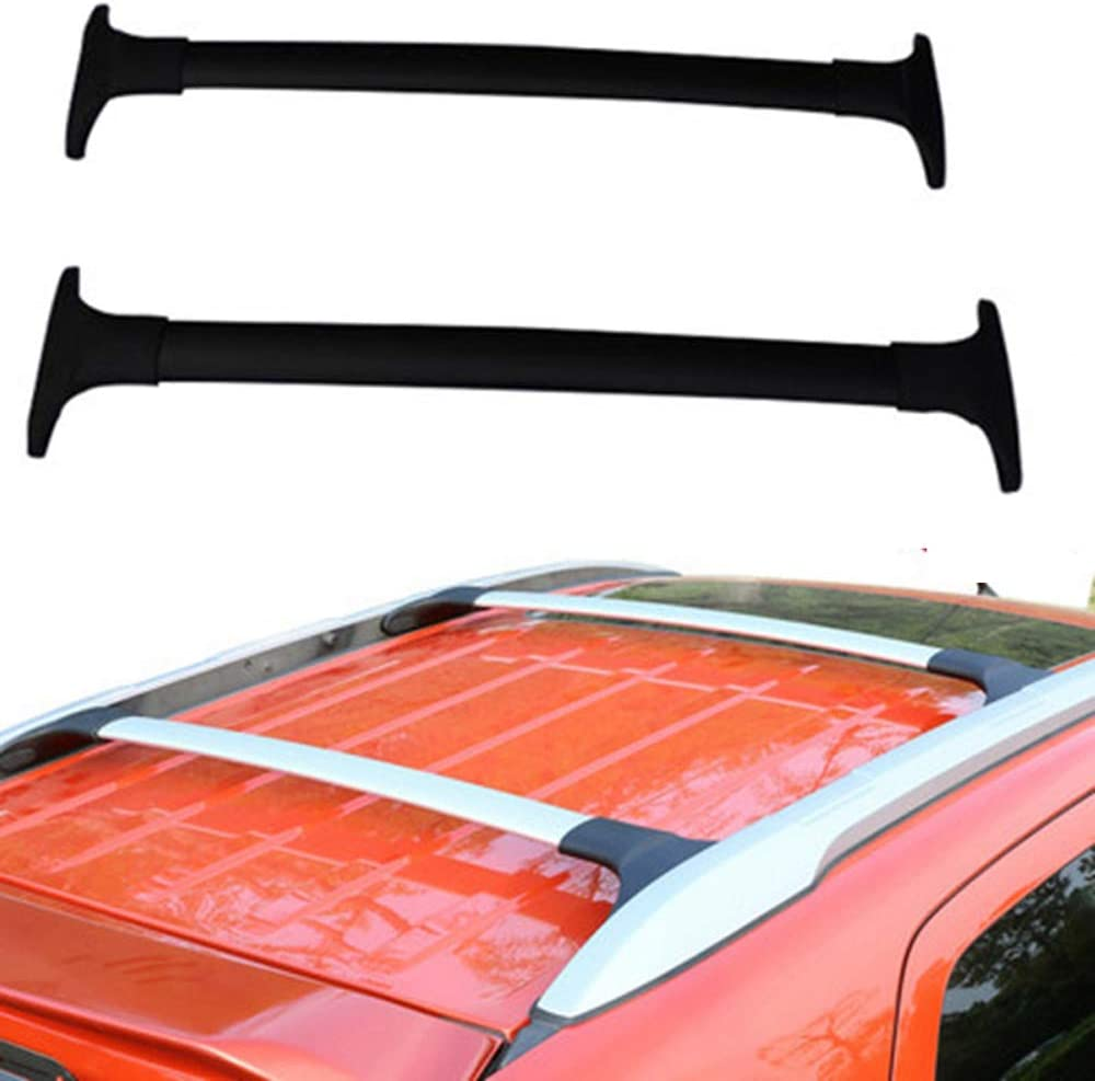 XDDXIAO Car Styling Aluminum Alloy Side Bars Cross Rails Roof Rack Luggage Carrier Rack 2Pcs for Ford Ecosport 2013-2020,Silver