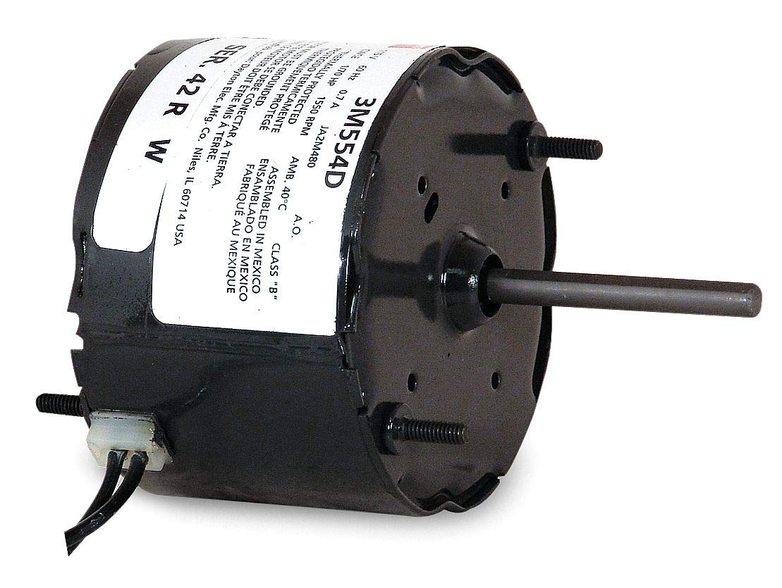Dayton 1/70 HP, HVAC Motor, Shaded Pole, 1550 Nameplate RPM, 115 Voltage, Frame 3.3-3M554