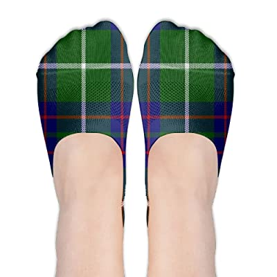 Xiuarrowxiu No Show Socks Scottish Tartan Plaid Girls' Non Slip Champion Crew Low Cut Liner Ankle Boat Stockings