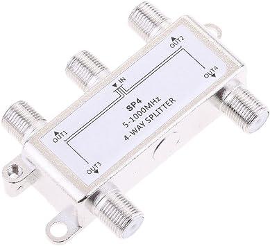 Gazechimp 4 Vías Splitter 5-1000MHz Señal CATV Splitter ...