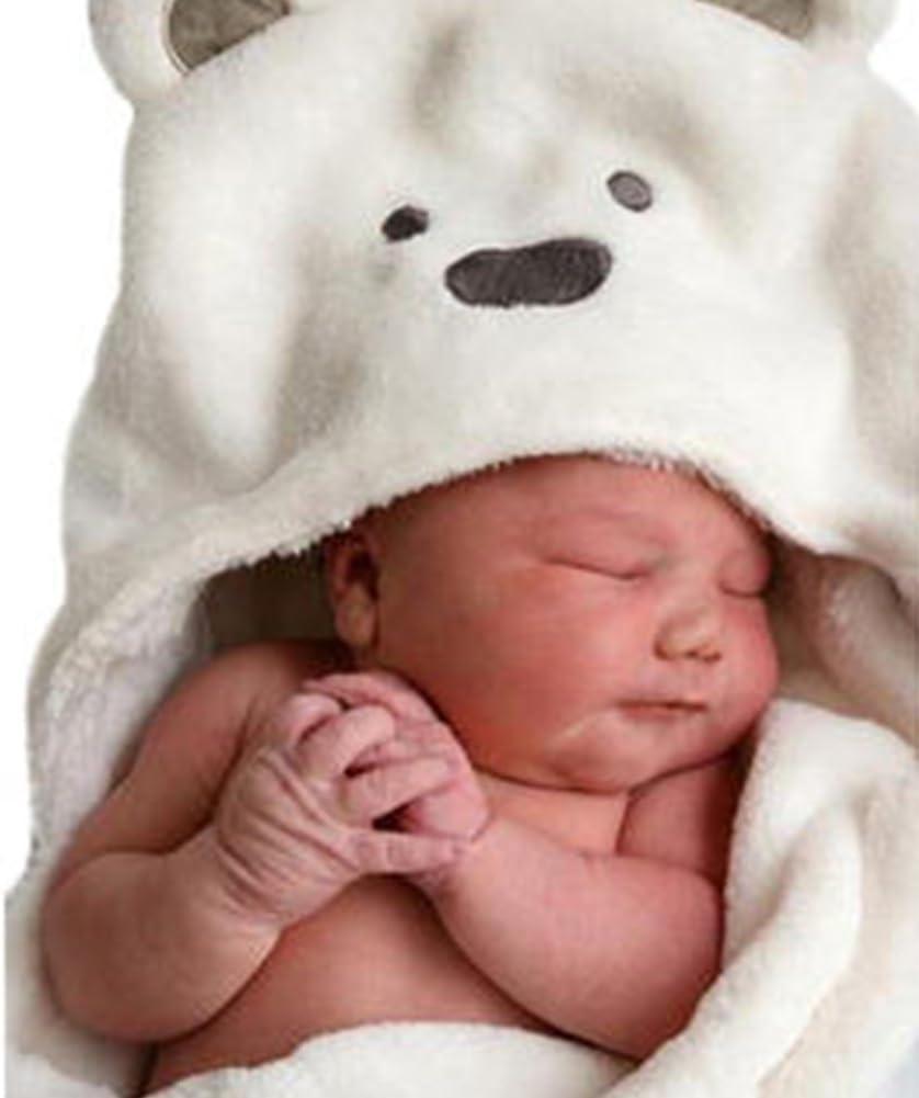 Bad Wrap Decke Weich Koralle Fleece Tier Poncho f/ür Neugeborenes M/ädchen Jungen Bademantel mit Ohren CVERY Mit Kapuze Baby Handtuch